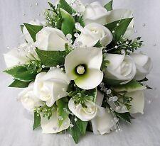 strass /& ruban mariage fleurs Douche Bouquet Posy Posie brides rose