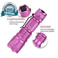 *BRAND NEW PINK J5 Tactical V1 Pro Pink Tactical Flashlight ULTRA BRIGHT AA BATT