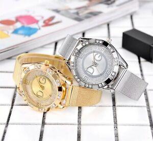 DQG Chronograph Fashion Ladies Watches Women Girls Crystals Bling Watch