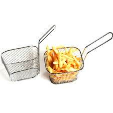 Stainless Steel Mini Chip Fries Serving Food Fryers Potato Basket Holder Kitchen