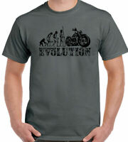 Motorbike Evolution T-Shirt Mens Funny Biker Motorcycle Indian Bike