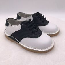 L'AMOUR NEW Childrens Black White Saddle Oxford Shoes Toddler Size 7 Dress