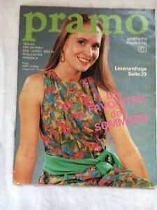 PRAMO, Modezeitschrift der DDR, Ausgabe 4 /1990