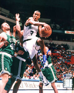 STEPHON MARBURY SIGNED AUTOGRAPHED 8x10 PHOTO MINNESOTA TIMBERWOLVES BECKETT BAS