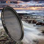 K&F Concept 72mm Slim ND Lente Filtro Adjustable Fader Variable ND2-400