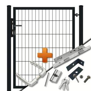Doppelstabmattenzaun Gartentor 1-flg b=1250mm passend zu Doppel-Stab Matten Zaun