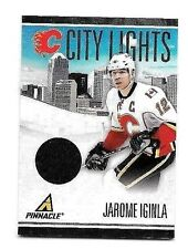 JEROME IGINLA 2011 PINNACLE CITY LIGHTS GAME USED JERSEY#/499