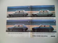 advertising Pubblicità 1982 FIAT RITMO 60 CL/SUPER 75/DIESEL/105 TC