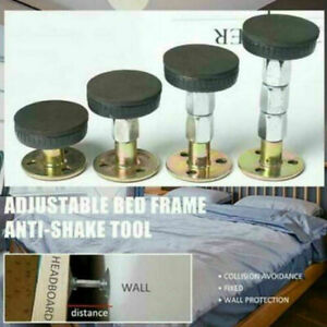 Adjustable Threaded Bed Frame Anti-Shake Tool Telescopic Support For Room Wall~~