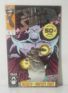 SILVER SURFER 50 (1991 MARVEL)[1ST EVER FOIL EMBOSSED COMIC BOOK COVER!] NM+!!!