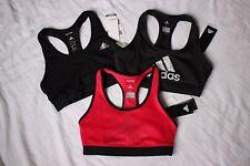3 NEW Black Pink ADIDAS Athletic Gym Techfit Climalite SPORTS BRA Lot sz SMALL