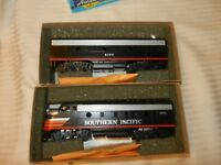 HO Scale Southern Pacific F7A & B Dummy Units Athearn Black Widow, BNOS