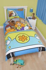SCOOBY DOO MYSTERY MACHINE SINGLE bed REVERSIBLE QUILT DOONA DUVET COVER SET NEW