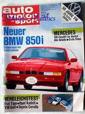 AMS 12-88+BMW 850i+VW PASSAT GT+OPEL KADETT & CORSA GSi+MAZDA 121+VW GOLF+CABRIO