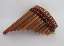 Antara Curved Pan Flute 13 Bamboo Pipes Beginners Level Nice Sound Peru #484