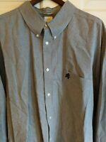 Walt Disney World Men's Sz 3XL  Long Sleeve Shirt Button Up Mickey Mouse Plaid.