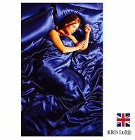 6pc Satin Complete Duvet Cover Amp Bed Sheet Set Ebay