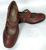 Hotter Comfort Concepts Womens Mary Jane Shoes Brown Leather Flats US Size 7