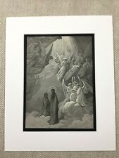 Heavenly Choir of Angels Dante's Paradiso Engraving Genuine Antique Print