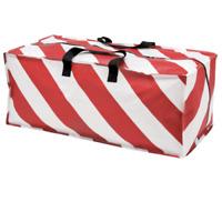 Ikea Vinter 2019 Frakta Winter Zippered Storage Bag Red White Stripe Candy Cane