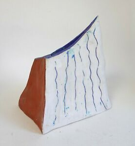 Studio pottery abstract shaped vase / sculpture