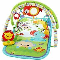 Fisher-Price 3-in-1 Busy Baby Rainforest Sensory Activity Gym/Mat│Musical Toy