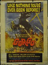 GORGO 1961 ORIGINAL 30X40 MOVIE POSTER BILL TRAVERS WILLIAM SYLVESTER