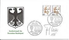 Autogramm Sonderumschlag SSt Fritz Walter Fußball Weltmeister WM 1954 Bern 13-6