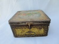Old Vintage Collectible Paradise Products Co. Litho Print Ad Tin Box ADV EHS