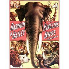 Elephants! Reproduction Vintage Ringling Bros/B&B Circus Poster 18x24