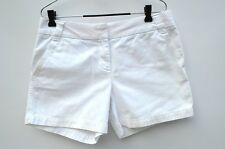 """J. CREW White Flat Frt 4.5"""" Broken In Chino Classic Twill City Fit SHORTS 8 med"""