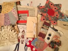 Sewing Junk Journal Kit. Vintage The Art Of Sewing Book And Much More