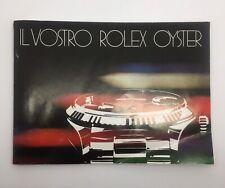 Rolex Booklet Libretto *IL VOSTRO ROLEX OYSTER* 1982 ITA - 579.25 I - 10 - 1.82