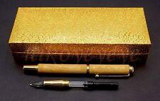 Wood Bamboo Engraving Pen BallPoint funtain collectible Presentation Box Gift