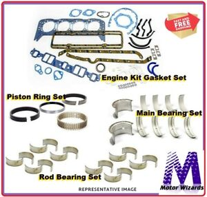 Chevy GMC Truck 350 5.7 1986 ENGINE REBUILD KIT Rings Rod+Main Brgs Gaskets
