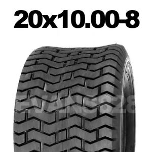20x10.00-8 4PLY TURF TYRE FOR LAWN MOWER GOLF BUGGY RIDE 20 X 10 - 8
