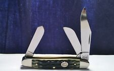 2005 CASE XX Stockman Green Bone Pocket Knife No.6347 SS Beauty+Unused Nrmt-Mt!