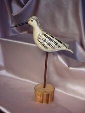 VINTAGE FOLK ART YELLOWLEGS SHORE BIRD WOOD CARVING