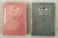 Lot of 2 Playing Cards Buffalo Bills Hotel n Casino Las Vegas Red and Blue Decks