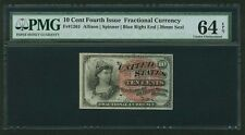 1869-75 10 CENTS FRACTIONAL CURRENCY FR1261 CERTIFIED PMG CHOICE UNCIRCULATED 64
