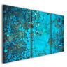 Quadro astratto Acquamarina velata celeste blu arte design stampa su tela arredo
