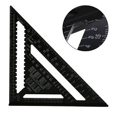 12 Inch ROOFING SPEED SQUARE ALUMINIUM RAFTER ANGLE FRAME MEASURE TRIANGLE RULER
