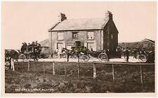 """Derbyshire.(SK11).Buxton.""""Cat & Fiddle"""" pub.house.horses.Photo / postcard.@.1912"""