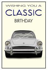 Sunbeam Alpine White Classic Car Birthday Greetings Card