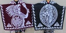 Aztec with Mallet Calendar and aztec poncho Gaban Mexican de Azteca con mazo