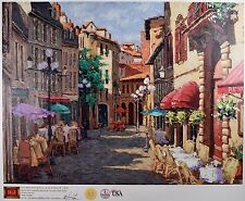 """Victor Shvaiko Limited Edition, Signed Giclee """"Sunny Village"""" Beautiful & MINT!"""