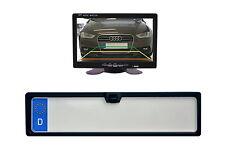 170° IR LED Rückfahrkamera Nummernschild Einparkhilfe inkl. Monitor 7 Zoll