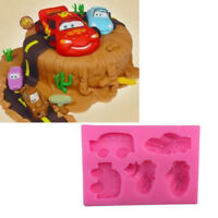 Car Shape Silicone Fondant Mold Cake Decorating Chocolate Baking Mould Tools