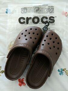 Crocs size M7/W9 US CHOCOLATE Classic Clog Ultra-lite Water Proof Sandal,NEW  TL