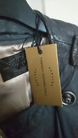 NEW with Tags - French Connection Ladies Leather Jacket - Size 14 Grey